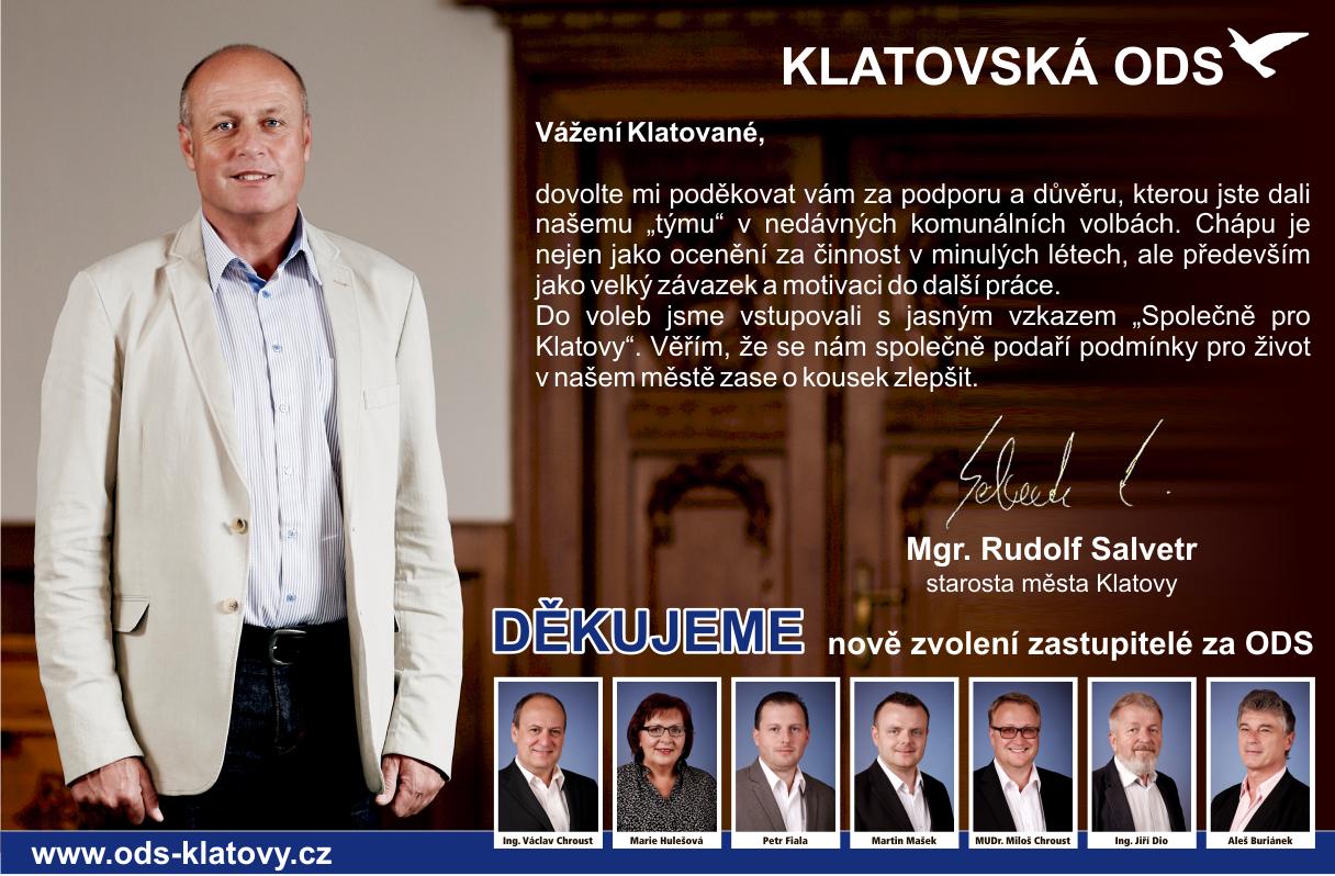 Klatovská ODS - Děkujeme!